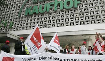 ver.di-Streik bei Galeria Kaufhof