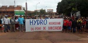 Protest gegen Hydro Norsk nach der Ermordung Paulo Nascimentos am 13.3.2018