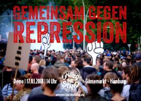 [17.03.2018 in Hamburg] United we stand! Gemeinsam gegen Repression und autoritäre Formierung!