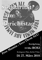 [Kundgebung am 27.3.2018 in Berlin] FREE MUMIA – Free Them ALL!