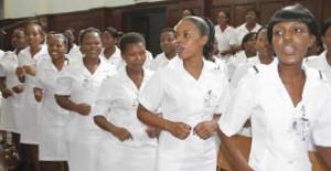 Streikende Krankenschwestern Zimbabwe April 2018