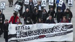 Solidaritätsaktion mit den angeklagten von Altsasu: 375 Jahre ins Gefängnis wegen einer Kneipenschlägerei?