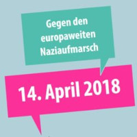 Mobilisierungsplakat gegen Nazidemo in Dortmund am 14.4.2018