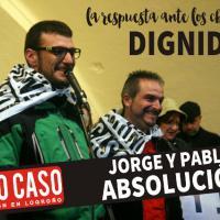 Soliplakat mit jorge und Pablo April 2018 CNT Spanien