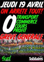 Frankreich: Berufsgruppenübergreifender Protesttag am 19. April 2018