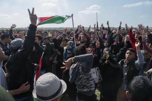 Demonstration an der Grenze Israels am 30.3.2018