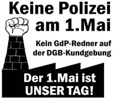 [Bremen] Keine Polizei auf der DGB-Kundgebung! Der 1. Mai ist unser Tag!