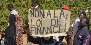Demonstration in Niamey gegen den Staatshaushalt und Steuererhöhungen 20.3.2018