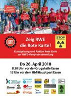 26.04.2018: Zeig RWE die Rote Karte! Kundgebung und Aktion Rote Linie zur RWE-Hauptversammlung