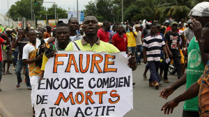 Demonstration in Togos Hauptstadt lome am 25.3.2018