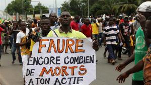Demonstration in Togos Hauptstadt lome am 25.3.2018