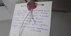 Das Volkshaus Ankara geschlossen und versiegelt am 1.4.2018