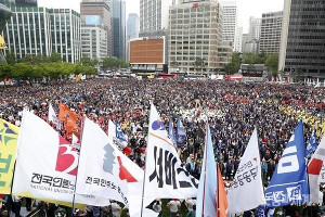 KCTU Demo Seoul am 1.5.2018