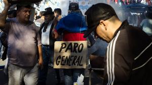 Am 21. Mai 2018 Zehntausende in Buenos Aires gegen neuen Pakt mit dem IWF