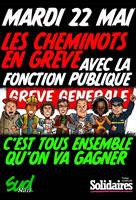 [22. Mai 2018] Landesweit Streiks und Demonstrationen:  Von  allen französischen Gewerkschaften im Öffentlichen Dienst organisiert