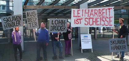 17.5.2018 in Münster: Gegen Leiharbeit! [17. Mai 2018 in Münster] Protestaktion gegen die 20 Jahresfeier der IGZ