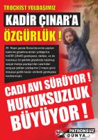 Soliplakat für die türkischen Gefangenend es 1.5.2018