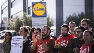 Lidlstreik Portugal 30.4.2018