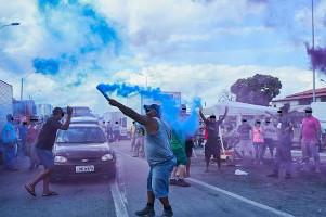 Eine von über 500 LKW Blockaden in Brasilien im Mai 2018
