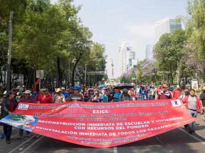 Maidemo Mexikostadt 2018 - Beginn eines neuen CNTE Streiks