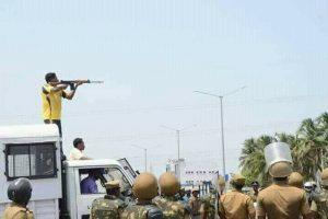 Polizei-Scharfschützen als Täter beim Massaker in Tamil Nadu am 22.5.2018