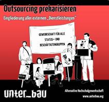 "Gewerkschaft unter_bau: ""Outsourcing prekarisieren"""