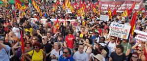 Demo in Rom gegen den Mord an sacko und die Flchtlingspolitik der Rechtsregierung am 16.6.2018