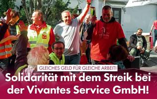 Solidarität mit dem Streik bei Vivantes-Servicetochter VSG