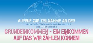 """[17.-23.9.18] Internationale Woche des Grundeinkommens 2018: """"Grundeinkommen – ein Einkommen, auf das wir zählen können!"""""""