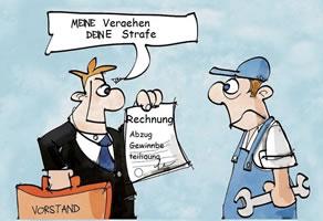 Die 03.2018-Ausgabe der Betriebsgruppe Alternative im hamburger Mercedes-Benz Werk: Wer zahlt die Zeche?