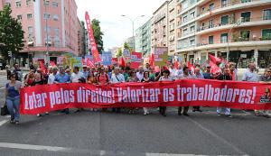 CGTP Demo in Lissabon gegen die neuen Arbeitsgesetze der Sozialdemokratie am 26.6.2018