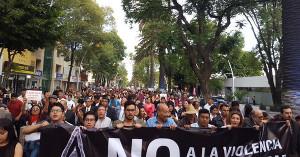 Demonstration gegen Gewalt in Piebla (Mexico) - ein zentrales Thema der Wahl am 1. Juli 2018