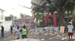 Protest gegen Benzinpreise in Haiti Anfang Juli 2018