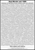 """Plakat """"Nazi-Morde seit 1989"""" von GewerkschafterInnen und Antifa gemeinsam gegen Dummheit und Reaktion"""