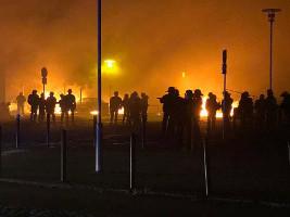 Nantes 4. Juli 2018 - Polizei gegen Proteste gegen Polizei