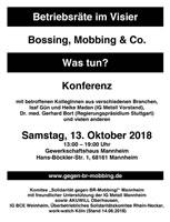"""[Sa, 13.10.2018] 5. Konferenz """"Betriebsräte im Visier"""" in Mannheim"""