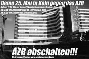 Ausländerzentralregister abschalten!!! Zentrale Demonstration gegen das Ausländerzentralregister (AZR) am 25. Mai 2002 in Köln