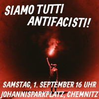 Plakat Antifademo Chemnitz 1.9.2018