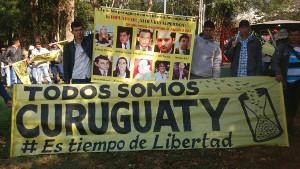 Eine der zahlreichen Protestaktionen wegen Curguaty in Paraguay