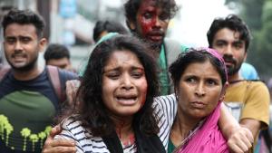 Busproteste in Bangladesch:Nach dem Polizeieinsatz