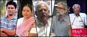 5 AktivistInnen am 28.8.2018 quer durch Indien festgenommen