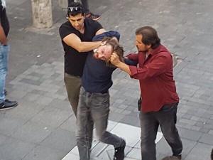 Polizeiüberfall auf Soliaktion mit streikenden Bauarbeitern in Istanbul am 15.9.2018