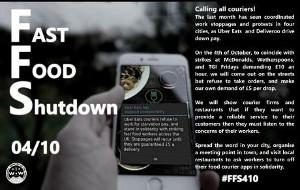 [4. Oktober 2018] Ein gemeinsamer Tag des Protests in Großbritannien von McDonalds bis Uber Eats: Fast Food Shutdown für 10 Pfund Mindestlohn und Gewerkschaftsrechte