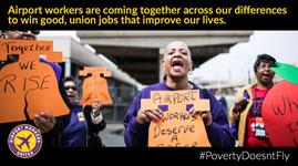 #PovertyDoesntFly - Damit Fliegen sicher bleibt: 2. Oktober - Protestaktionen von Flughafenbeschäftigten an deutschen und internationalen Flughäfen