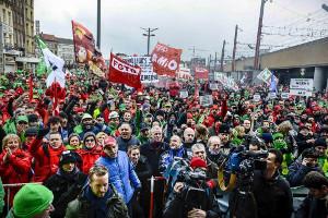 Demonstration in Brüssel am 28.9.2018 gegen Streichung der Karenztage im öffentichen Dienst