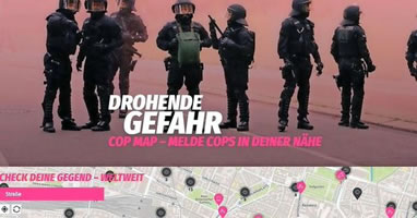 """Eine neue Initiative im Web: Polizeiaufmärsche veröffentlichen auf """"Cop-Map"""""""