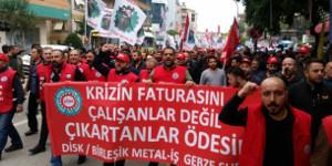 Protestmarsch gegen Entlassungen und Flexibilisierung von Gebze und Disk am 23.10.2018
