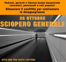 Italien: Aufruf, den die CUB gemeinsam mit anderen Basisgewerkschaften für einen Proteststreik-Tag am 26. Oktober 2018 für eine wirklich andere Sozialpolitik verbreitet