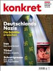 """Grossisten verzögern die Auslieferung des Magazins """"Konkret"""" 10/2018 wegen Hakenkreuze auf der Krawatte auf dem Titelbild"""