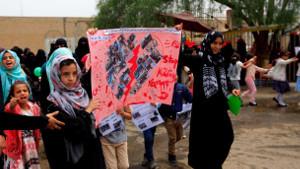 Frauenprotest in Jemens Hauptstadt am 4.10.2018 - von den angeblichen Rebellen zerschlagen